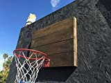 "Indoor Basketball Hoop With American Cedar Wood Backboard & Durable Mini 9"" Basketball Hoop - Very Cool Way To Practice Basketball & Let Off Steam - Easy Installation"