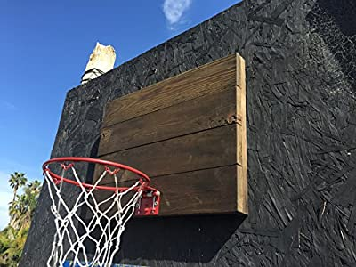 "Indoor Basketball Hoop With American Cedar Wood Backboard & Durable Mini 9"" Basketball Hoop - Very Cool Way To Practice Basketball & Let Off Steam - Easy Installation"