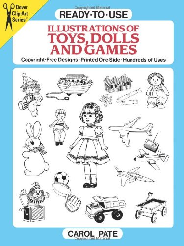 Toys And Games Clip Art : Ready to use illustrations of toys dolls and games dover