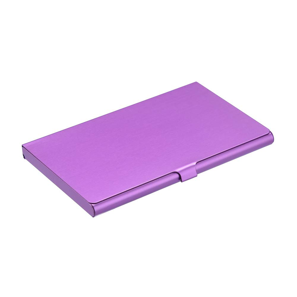 Sonmer Creative Aluminum Holder Metal Cover Credit Business Card Wallet (Purple)
