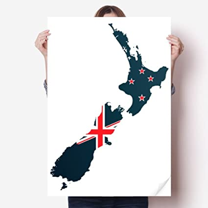 Amazoncom Diythinker The Flag Island Country Map New Zealand Vinyl