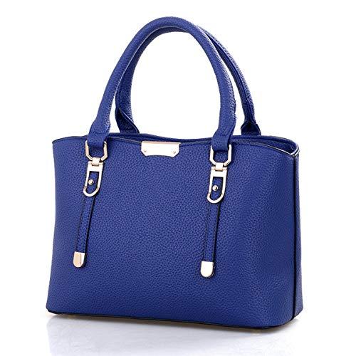Grandes La 0240 Bandolera Trabajo Bolso Piel Mujer Cuero Blue Shopper Tote Pu Exull De Bolsa Bolsos Grande UPt6qwpnn