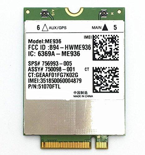 ME936 LT4110 LTE/HSPA+ 4G NGFF Quad-band EDGE/ GPRS/GSM Penta-band DC-HSPA+/HSP USE FOR HP SPS: 756993-005