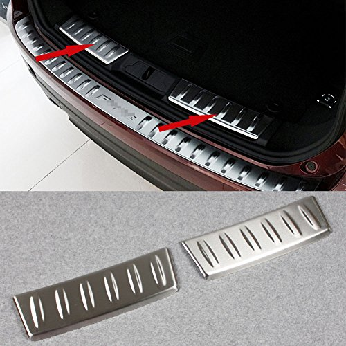 Generic Rear Bumper Inside Sill Plate Guard Cover Fit For Jaguar F-Pace 2016 2017 2018 by Generic
