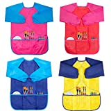CUBACO 4 Pack Kids Art Smocks Children Waterproof