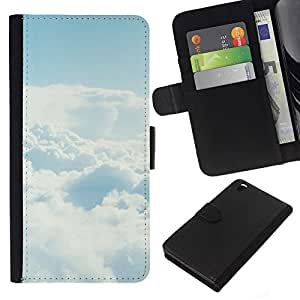 NEECELL GIFT forCITY // Billetera de cuero Caso Cubierta de protección Carcasa / Leather Wallet Case for HTC DESIRE 816 // Cielo despejado Nube
