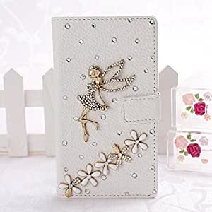 Wkae? Fashion New Pocket Wallet Series 3D Bling Crystal Rhinstone PU Leather Case Flip Cover Stand for NOKIA 1020 by Diebell (Angel and Flower) wangjiang maoyi