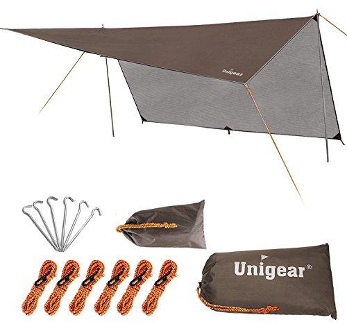 Unigear Hammock Rain Fly Waterproof Tent Tarp Camping Backpacking Tarp Shelter, Lightweight for...