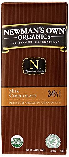Newman's Own Organic Chocolate Bar Milk Organic, 3.25 oz - Chocolate Own Newmans Bar