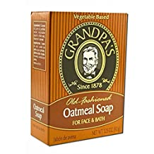 Pack of 3 x Grandpa's Oatmeal Bar Soap for Face and Bath - 3.25 oz