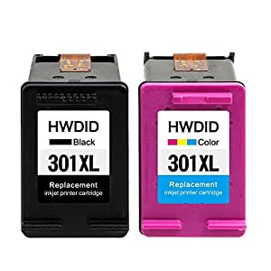 HWDID 301 XL Cartuchos de tinta (1 Negro, 1 tricolor) Compatiable ...