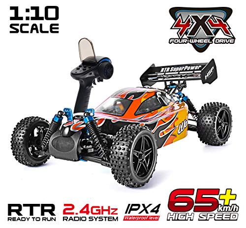 HSP 1:10 Scale High Speed 65km/h 4WD Off-Road RC Car 2.4Ghz Remote Control Truck,Radio Controlled Off-Road Racing Car…