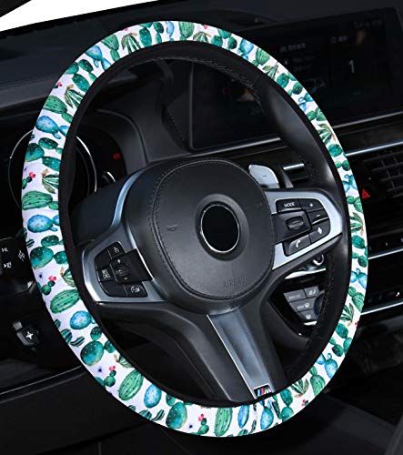 red and grey steering wheel cover - 5