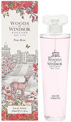 Woods of Windsor True Rose Eau De Toilette Spray for Women, 3.3 Ounce