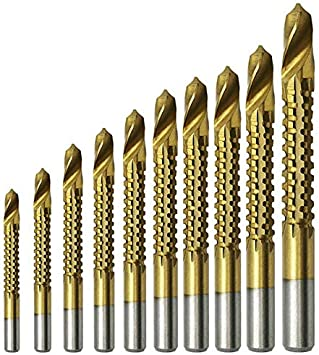 Twisted Drill Bits 3.5 high Speed Steel 10 pcs//Box 4241 Straight Shank Woodworking Drilling Tool Drill Bit Set,
