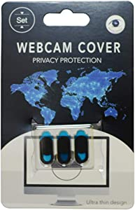Laptop Camera Cover Slide (3 Pack) Webcam Cover Slider Stickers for Computer, MacBook Pro/Air, iPhone, Tablets, PC, iPad, iMac, Cell Phone, Echo Show, Privacy Blocker Sliding Shield,Anti-Spy (Black)