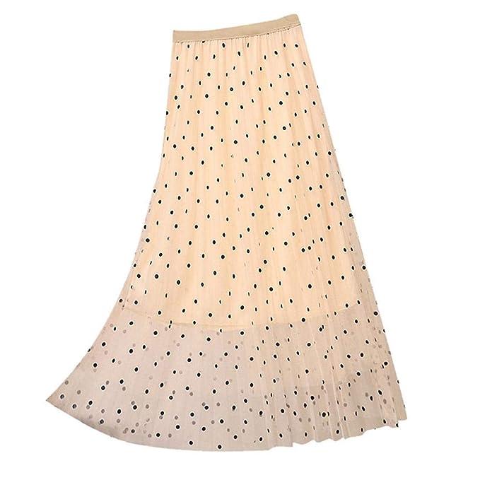 VJGOAL Moda Casual de Mujer Color sólido Imperio Plisado ...