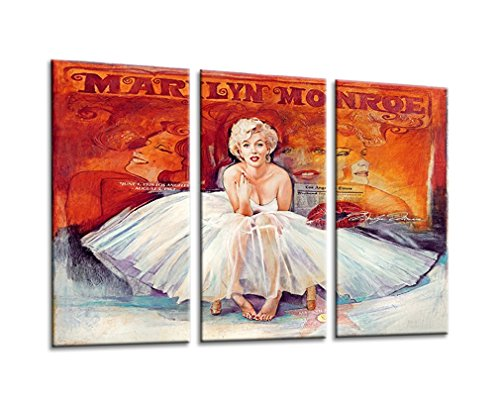 Sweety Decor Marilyn Monroe Colorful Photos Modern Wall Decoration Art Prints on Canvas 3pcs/set for Home and Office (Wood - Poster Monroe Modern