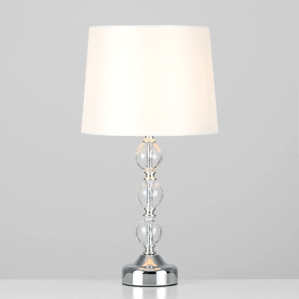 MiniSun Crackle Glass Ball Table Lamp