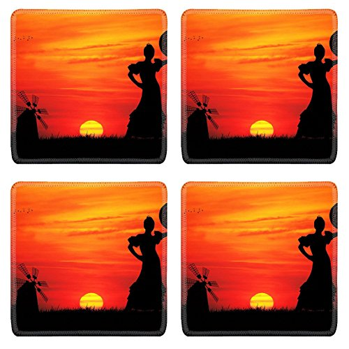 Liili Square Coasters IMAGE ID 16857013 spanish girl (Girls Spanish Flamenco Dancer Costume)