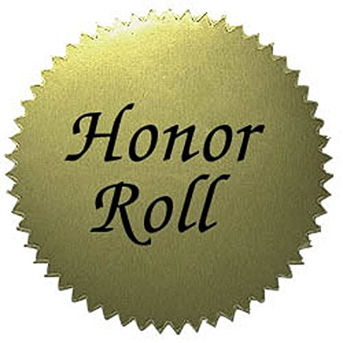 Hayes School Publishing VA317 Gold Stickers - Honor Roll- Set of 50 2'' Stickers (Honor Roll Stickers)