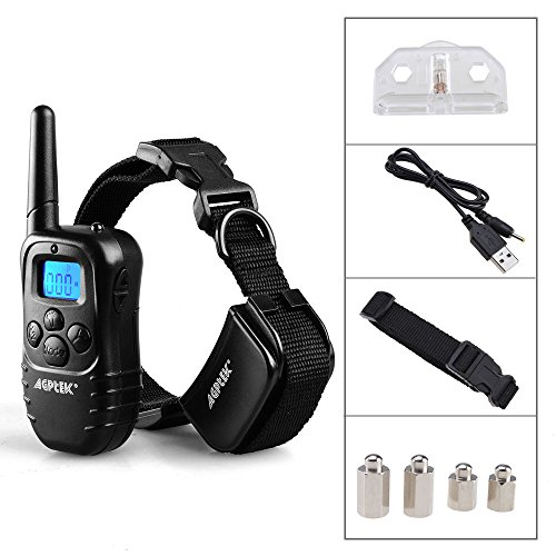 Remote Pet Dog Training Collar 300 Yard Rechargeable LCD 100LV Level Shock Vibra by eight24hours