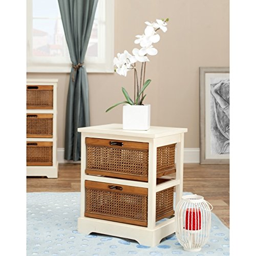 (Safavieh American Homes Collection Jackson Barley and Cane 2-Drawer Storage Cabinet)