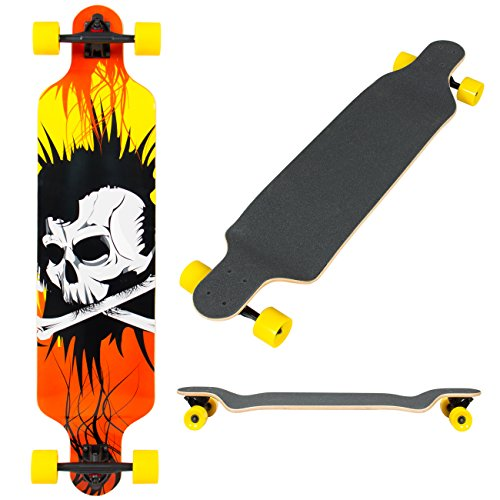 Best Choice Products 41' Pro Longboard Cruiser Cruising Skateboard Speed Board Maple Deck Outdoor Drop Through Deck