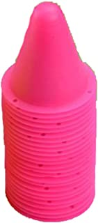 Black Temptation 20Pcs Slalom Cônes Patinage Cone Formation Cônes Traffic Cones-Rose