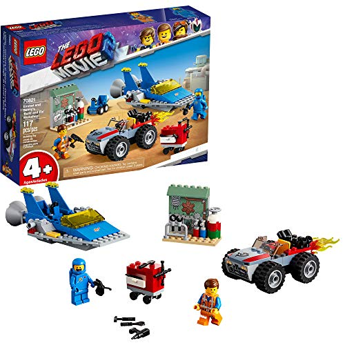 LEGO THE LEGO MOVIE 2 Emmet and Benny's 'Build and Fix' Workshop! 70821 Action Car and Spaceship Play Transportation Building Kit for Kids, New 2019 (117 Piece) ()