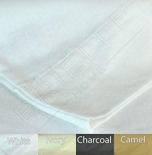 Cotton Flannel Pillowcase (Brielle 100-Percent Cotton Flannel Pillow Case Set, King,)