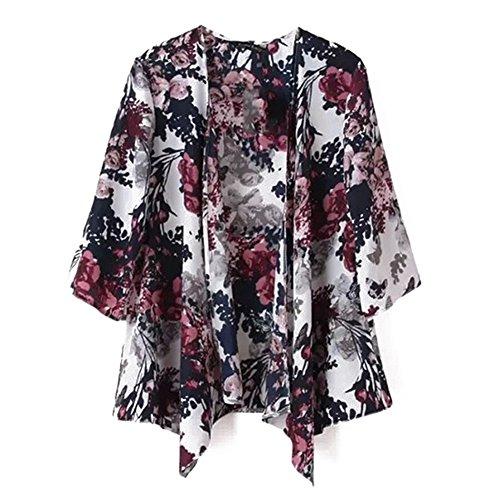 Outwear Jacket Women Kimono Blouse Coat Print Tops Cardigan Yalatan Floral WfOwnSS