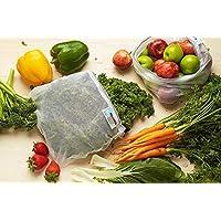 NEW ONYA REUSABLE PRODUCE BAGS Fruit Vegetable Bag Keeper SET 5 OR 8