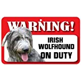 Irish Wolfhound Dog Pet Sign - Laminated Card by Instant Gifts Dog Signs