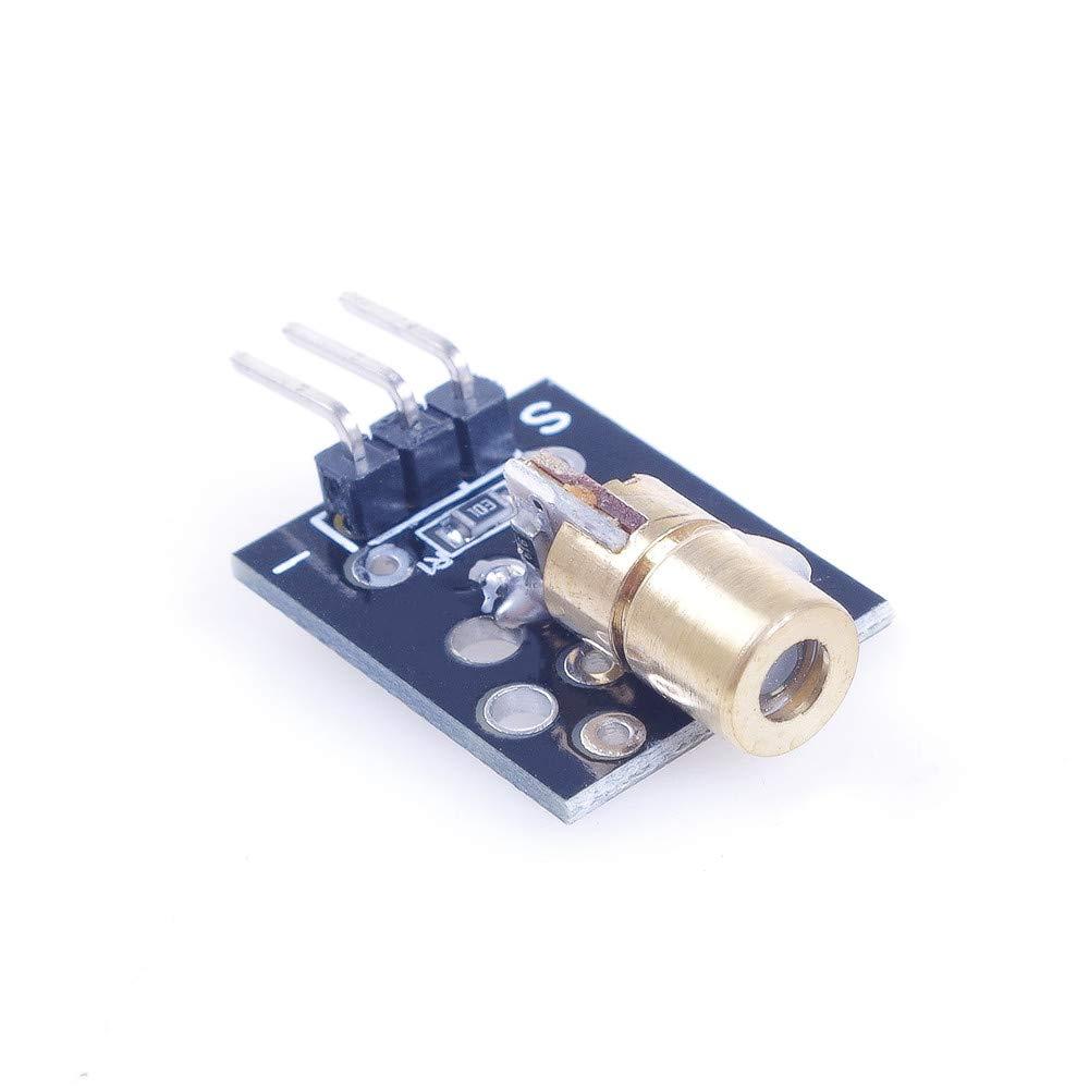 ANGEEK 5PCS 5V KY-008 laser sensor module Laser Dot Diode Copper Head for Arduino