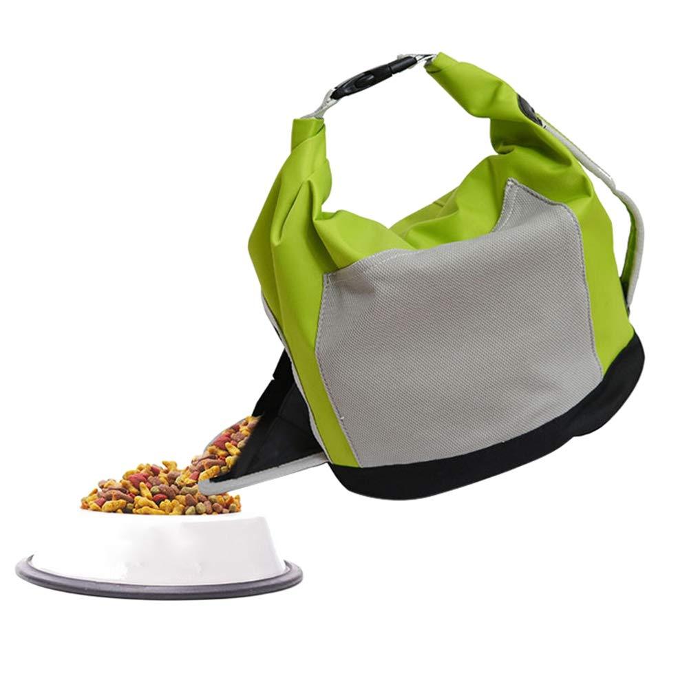Tutuba Pet Food Storage Bag,Self Folding Travel Food Bag Cats Dogs