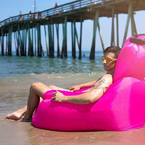 Silla inflable del ocioso con la almohadilla desmontable, silla del salš®n del aire para el flotador al aire libre de interior del uso de la piscina, ...