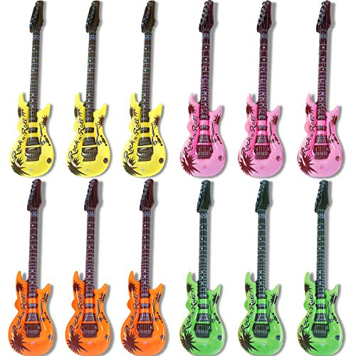 Inflatable Guitars Bulk - Novelty Place 35 Inches Rock Star