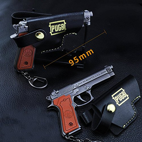 chouge games Eat Chicken 3.5'' metal P18C Pistol Model Figure Arts Toys Collection Keychains Gift within Holster by chouge (Image #7)
