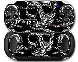 Sony PS Vita Skin Chrome Skull on Black by WraptorSkinz