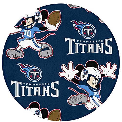- Dalean Tennessee Titans Floor Mat with Circular, Non - Fading, 23.62 inches in Diameter, Suitable for Indoor Floor Mat of Entrance, Bathroom, Bedroom,Toilet, Etc