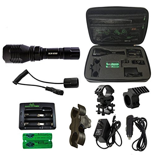 Elusive Wildlife The Kill Light XLR250 Gun Mounted Hunting Light, Green, Single Mode, On/Off Switch
