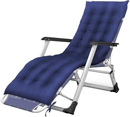 Mueble de jardín/Zero Gravity Patio Lounges Chaise en el jardín al Aire Libre Tumbonas Plegables Sillas de jardín portátiles Soportan 200 kg con Cojines Silla de Camping Liviana (Color: Azul): Amazon.es: Jardín