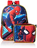 Marvel Boys' Spiderman Backpack with Lunch, Blue