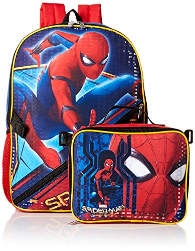 Spider Man Lunch (Marvel Boys' Spiderman Backpack with Lunch, Blue)