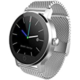 TOOGOO 09B Smart Watch Men 1.3 Inches Bluetooth Calling Music Playing Heart Rate Monitoring Smartwatch White