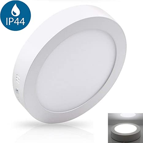 new styles 057bf d8f6c 6W Surface Mounted Led Ceiling Light Fittings (Waterproof IP44), 6000K Cool  White. Led Bathroom Light Ceiling for Kitchen, Hallway, Living Room. Soft  ...