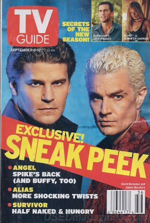 Download TV Guide September 6-12, 2003 (David Boreanaz and James Marsters; Sneak Peek: Angel-Spike's Back, and Buffy, Too; Alias-More Shocking Twists; Survivor-Half Naked and Hungry; Maxim-ized TV: Gary the Rat, Stripperella, Ren & Stimpy-Does Spike TV Know What Men Really Want?, Volume 51, No. 36, Issue #2632) ebook