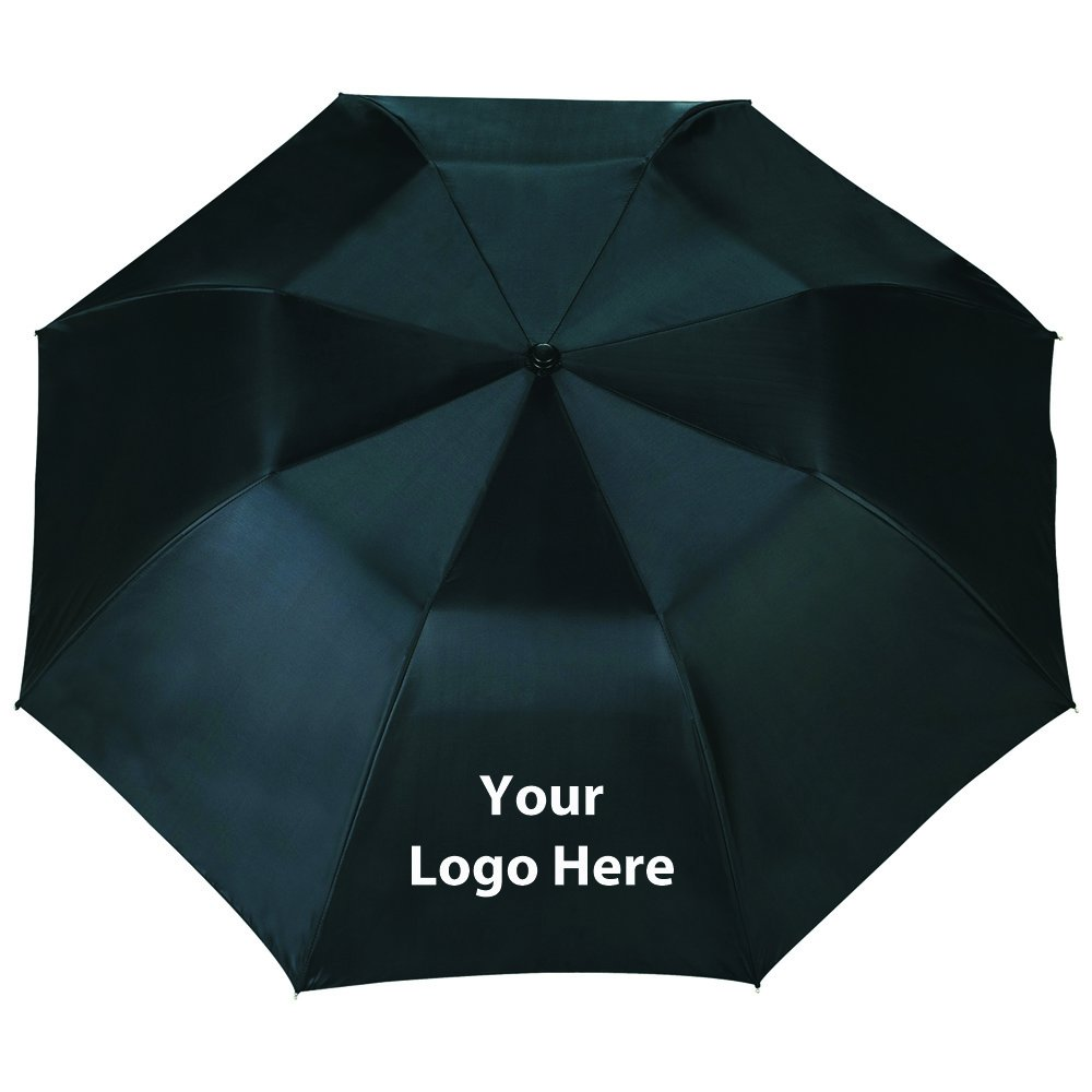 46'' Blue Skies Auto Open Folding Umbrella - 36 Quantity - $17.25 Each - PROMOTIONAL PRODUCT / BULK / BRANDED with YOUR LOGO / CUSTOMIZED by Sunrise Identity