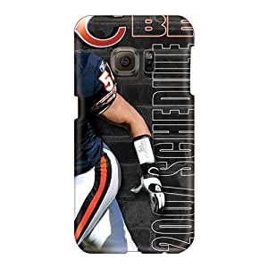 Perfect Hard Cell-phone Cases For Samsung Galaxy S6 With Allow Personal Design High Resolution Chicago Bears Series LauraAdamicska